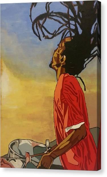 Pan Rising Canvas Print