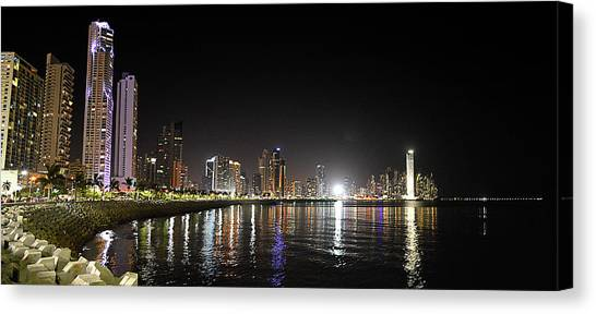 Panama City Night Canvas Print