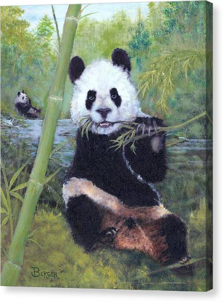 Panda Buffet Canvas Print
