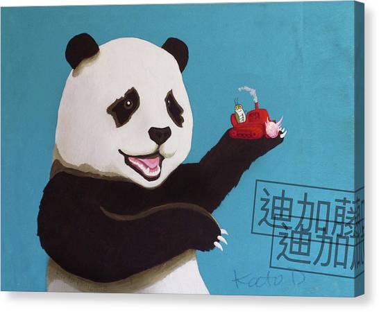 Canvas Print - Panda Joy by Kato D