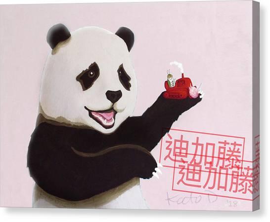 Canvas Print - Panda Joy Pink by Kato D
