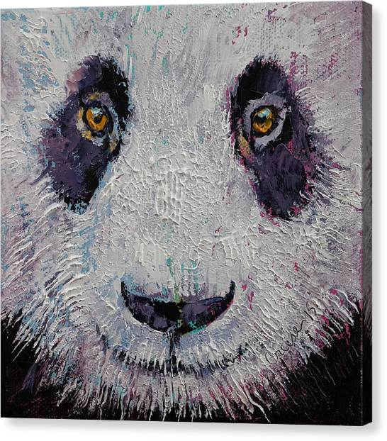 Panda Canvas Print - Panda by Michael Creese