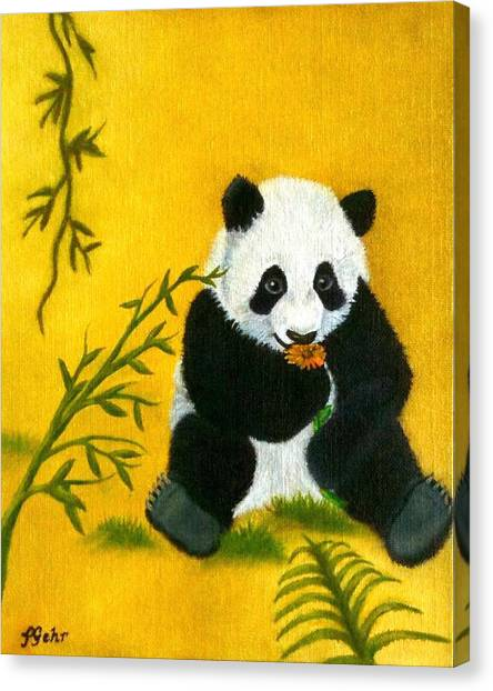 Panda Power Canvas Print