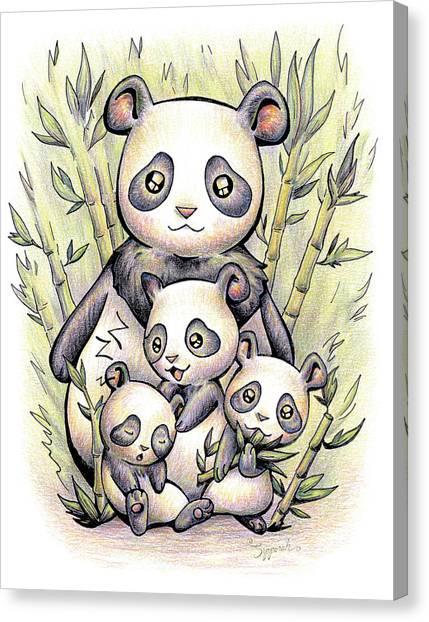 Endangered Animal Giant Panda Canvas Print