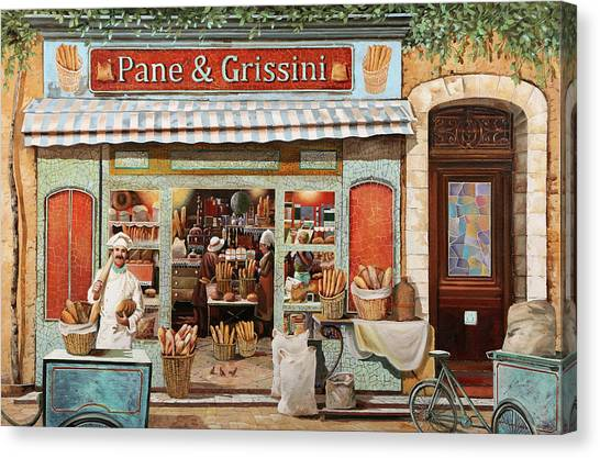 Bakeries Canvas Print - Pane E Grissini by Guido Borelli