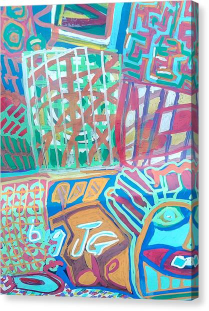 Panel Of Hand Painted Mondeo Canvas Print