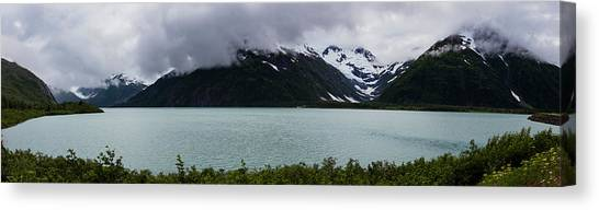 Panorama Of Cold Lake Canvas Print