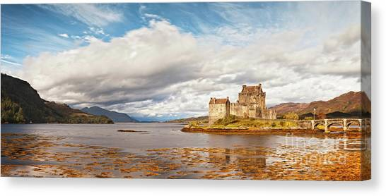 Fortification Canvas Print - Panorama Of Eilean Donan Castle Scotland by Colin and Linda McKie