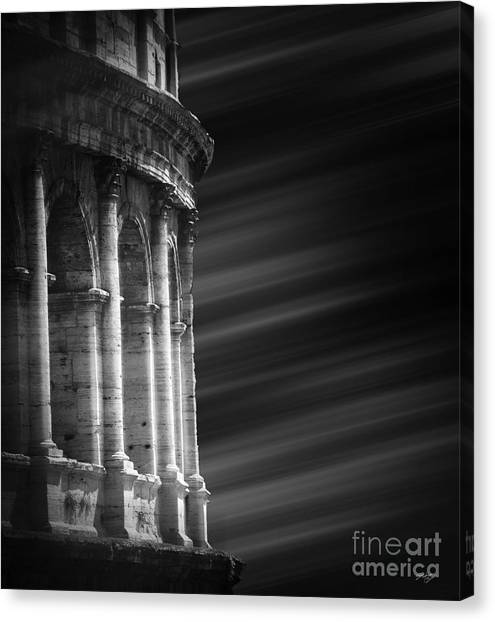 The Amphitheatre Canvas Print - Panorama Of Roma by Stefano Senise