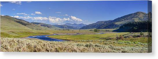 Panorama Of The Lamar Valley Canvas Print
