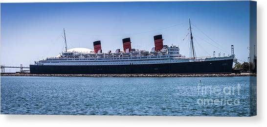 Panorama Of The Queen Mary Canvas Print