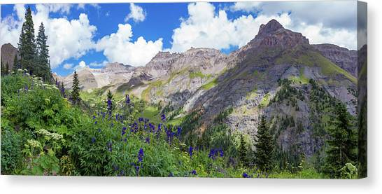 4x4 Canvas Print - Panorama Of Yankee Boy Basin by Bridget Calip