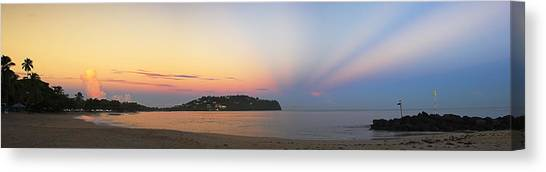 Panoramic 4- St Lucia Canvas Print