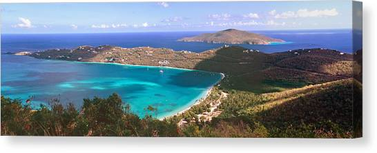 Aspect Canvas Print - Panoramic Aerial View Of Magens Bay by George Oze