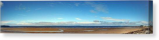 Panoramic, Ayr Beach, Scotland Canvas Print