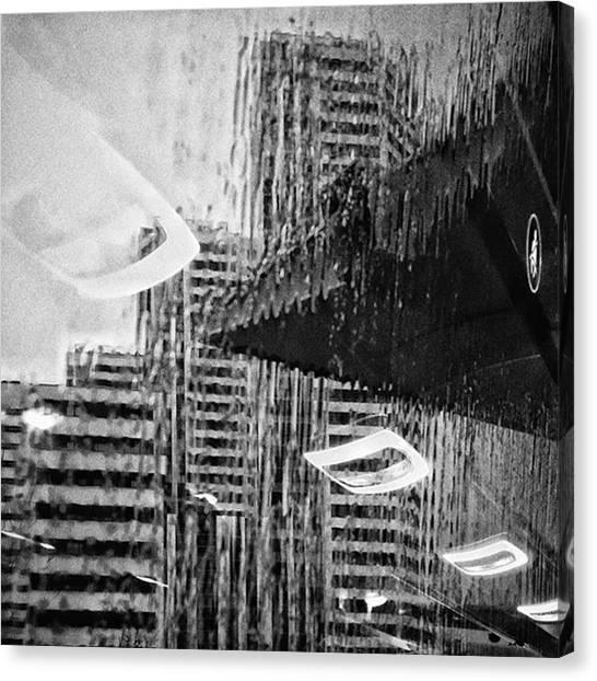 Rain Canvas Print - Panoramic Bus #cityscape #abstract by Rafa Rivas
