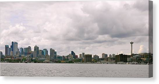 Panoramic Seattle Canvas Print