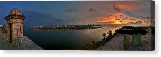 Panoramic View Of Havana From La Cabana. Cuba Canvas Print