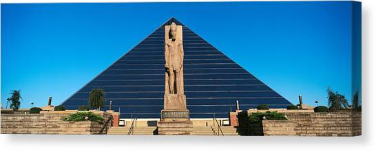 Memphis Grizzlies Canvas Print - Panoramic View Of Statue Of Ramses by Panoramic Images