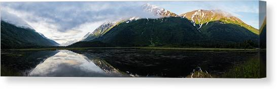 Panoramic View Of Tern Lake Canvas Print