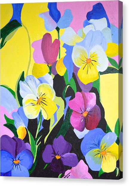 Pansies Canvas Print