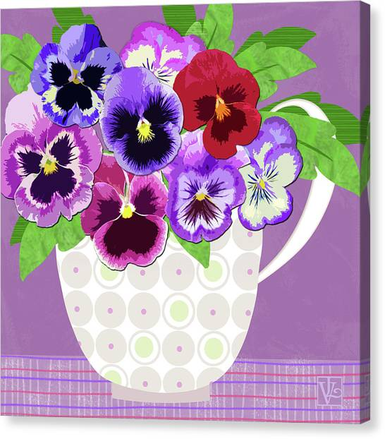 Pansies Stand For Thoughts Canvas Print