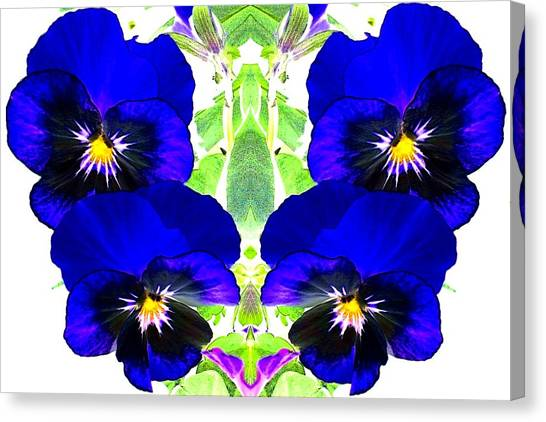 Canvas Print featuring the photograph Pansy Pattern by Marianne Dow