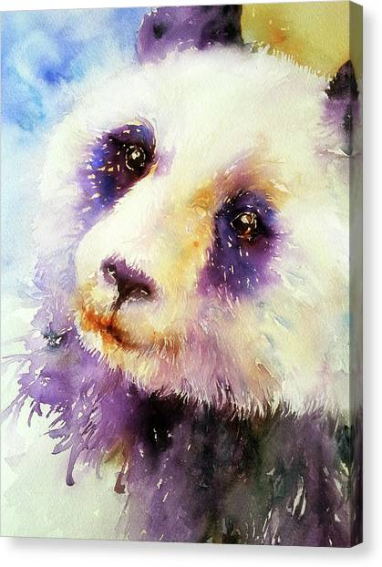 Pansy The Giant Panda Canvas Print