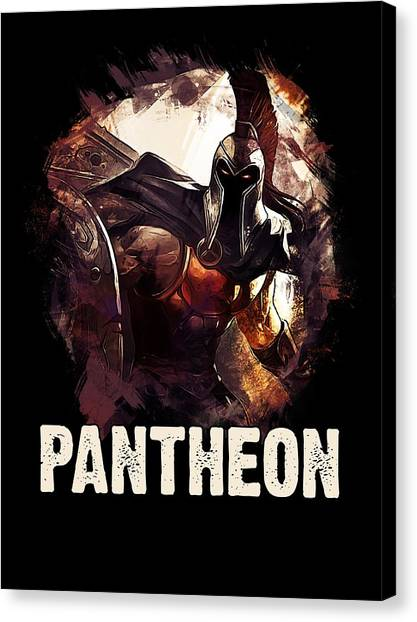 Video Games Canvas Print - Pantheon - League Of Legends by Dusan Naumovski