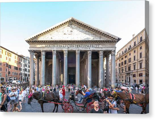 Canvas Print featuring the photograph Pantheon by Robert McKay Jones