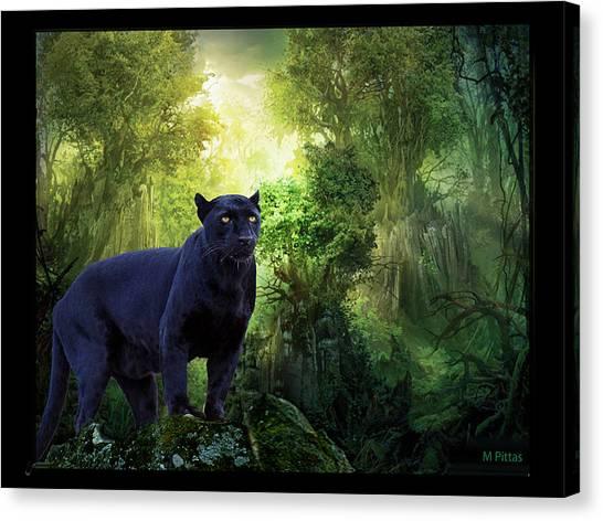 Panther Alert Canvas Print