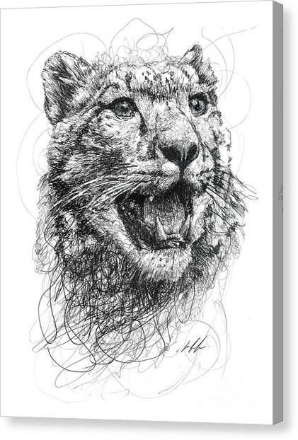 Leopard Canvas Print - Leopard by Michael Volpicelli