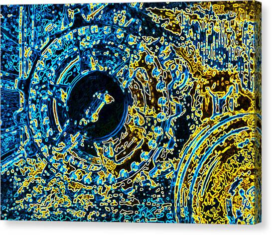 Panther Wheel Abstract Canvas Print by Ben Freeman