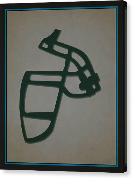 Carolina Panthers Canvas Print - Panthers Face Mask by Joe Hamilton