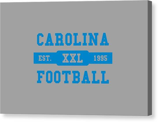 Carolina Panthers Canvas Print - Panthers Retro Shirt by Joe Hamilton