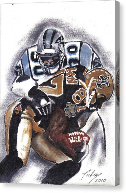 Panthers Vs Saints Canvas Print by Torben Gray