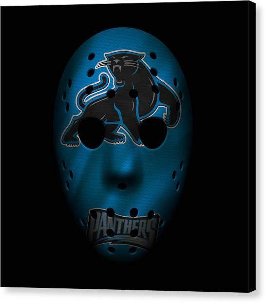 Carolina Panthers Canvas Print - Panthers War Mask 3 by Joe Hamilton