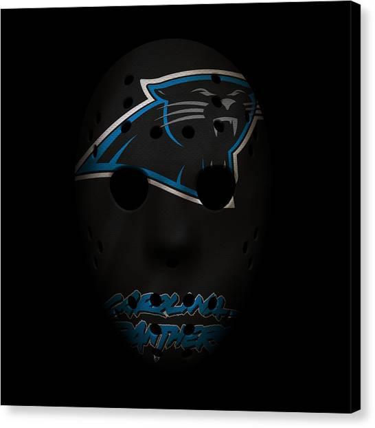 Carolina Panthers Canvas Print - Panthers War Mask by Joe Hamilton