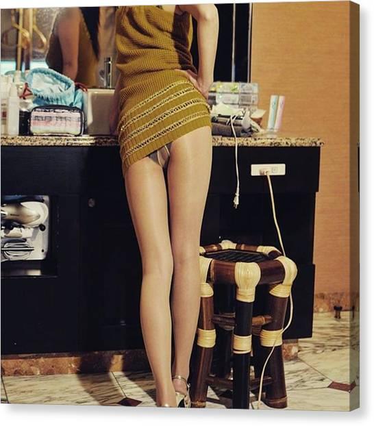 Legs Canvas Print - #pantyhose #pantyfetish #pantyhosegirl by Atsushi Fujiwara