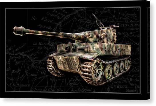 Panzer Tiger I Side Bk Bg Canvas Print