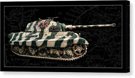 Panzer Tiger II Side Bk Bg Canvas Print