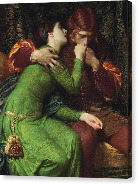 Pre-raphaelite Art Canvas Print - Paolo And Francesca by Sir Frank Dicksee