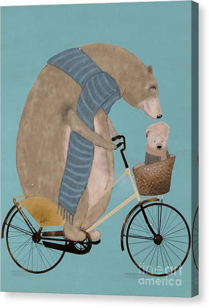 Brown Bears Canvas Print - Papa Bear by Bri Buckley