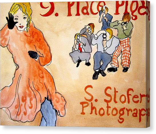 Paparazzi Canvas Print by Suzanne Stofer