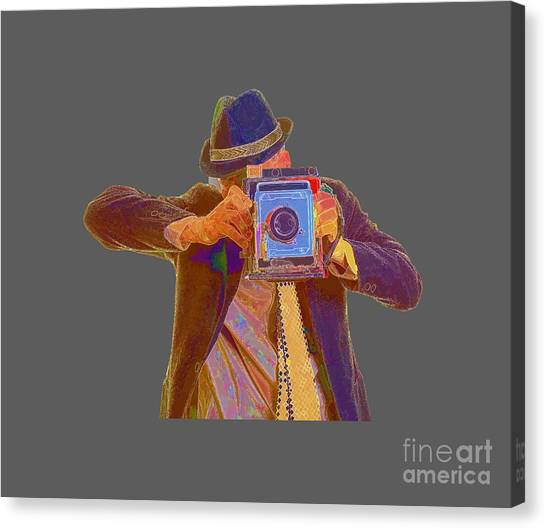 Tee Shirt Canvas Print - Paparazzi Tee by Edward Fielding