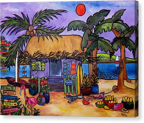 Papaya Canvas Print by Patti Schermerhorn