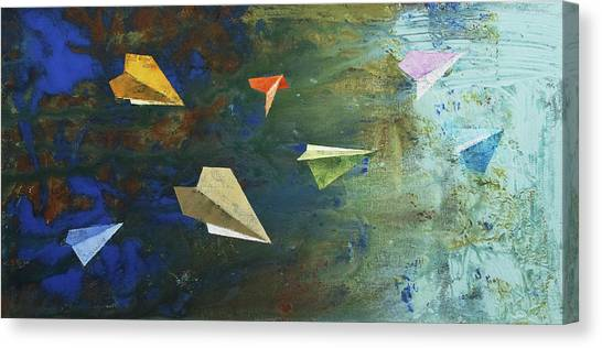 Paper Planes Canvas Print - Paper Airplanes by Michael Creese