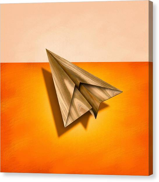 Toy Airplanes Canvas Print - Paper Airplanes Of Wood 18 by YoPedro