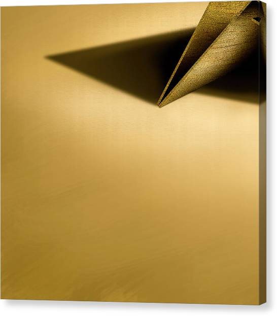 Paper Planes Canvas Print - Paper Airplanes Of Wood 7-4 by YoPedro