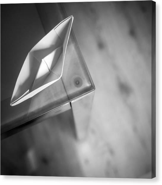 Tables Canvas Print - Paper Boat Corner by Janine Pauke